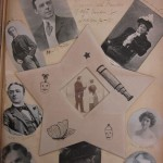 From one of the collection's scrapbooks