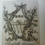 Bookplate of Elizabeth Graeme