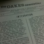Integration, the Oakes Newsletter