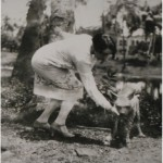 Stella Kramrisch with her Pet Hyena