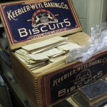 Another creative storage solution at Millbrook Society! Hatboro Borough records, stored in a biscuit box.