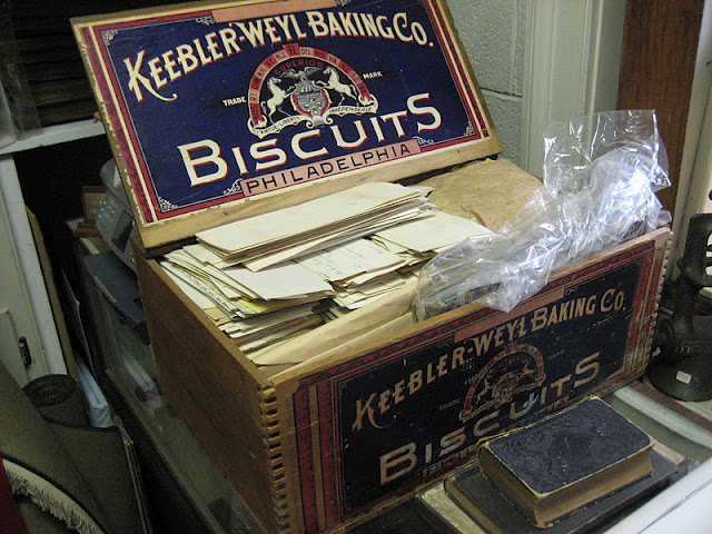 Another Creative Storage Solution At Millbrook Society! Hatboro Borough  Records, Stored In A Biscuit